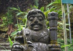 A Hinduism Statue Near Parang Ijo Waterwall, Indonesia