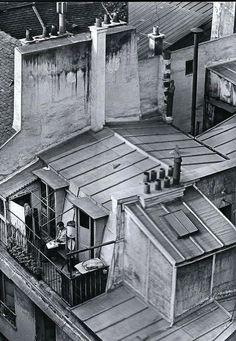 Quartier Latin roofs, Paris circa 1930. Photo: André Kertész