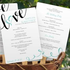 Help your wedding guests stay cool by turning your for Avery wedding program templates