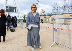 Paris Spring Fashion Week  Street Style 2016,  Pernille Teisbaek in Loewe sunglasses