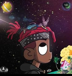 Anime Wallpaper Phone, Rap Wallpaper, Cartoon Wallpaper, Pink Wallpaper, Lil Uzi Vert Cartoon, Dope Cartoon Art, Swag Cartoon, Anime Rapper, Rapper Art