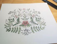 "Check out new work on my @Behance portfolio: ""Botanical Illustration"" http://be.net/gallery/34619689/Botanical-Illustration  #flower #fern #flowerillustration #illustration #green #watercolor #watercolorillustration #marker #micron #pattern #symmetry"