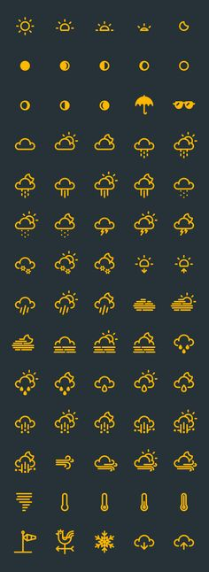 Downloaded: Free Weather Vector Icons
