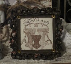 petite french market corsets shabby chic frame by OkioBDesigns, $5.00