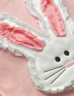 Raggy Easter Bunny Applique Machine Embroidery Design. $4.99, via Etsy.