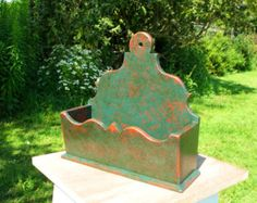 Painted primitive wall box American country by Cottagecharacters