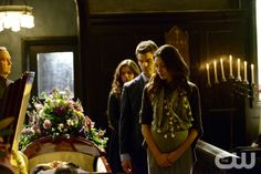 """The Originals -- """"A Closer Walk with Thee"""" -- Image Number: OR120a_0121.jpg -- Pictured (L-R): Danielle Campbell as Davina, Daniel Gillies as Elijah, and Phoebe Tonkin as Hayley -- Photo: Guy D'Alema/The CW -- © 2014 The CW Network, LLC. All rights reserved."""