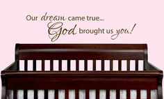 13 x 29 Our dream came true God brought us by designstudiosigns, $34.00