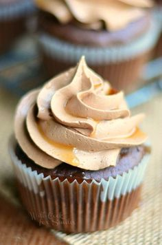 Bourbon Chocolate Cupcakes with Chocolate Buttercream Frosting and Bourbon Glaze from http://willcookforsmiles.com