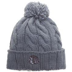 Chicago Blackhawks Grey Chunky Knit Pom Hat by Old Time Hockey #Chicago #Blackhawks #ChicagoBlackhawks