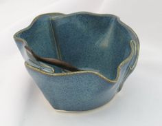 Hand Building Pottery Ideas   Hand Built Pottery Canadian Made Pottery Multi Purpose Dish - Blue ...