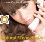 Get Natural 3Tones colour cosmetic contacts lenses with natural color shades that blends well and bring out that natural looks of your eyes. Selling Low Prices