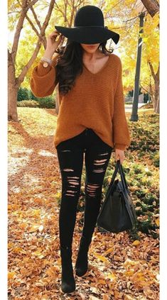 Women's autumn fashion inspo outfits are looking golden brown with a sleek black touch for a put together chic autumn outfit. #autumnoutfits #autumnoutfitcasual #autumnoutfitcute #autumnoutfitshopthislook #autumnoutfitshopcute #autumnoutfit2020 #autumnoutfitchic #womensfashion #cuteautumnoutfits #autumn #fall Fashion Over 40, Fashion Top, Fashion 2016, Fashion Online, Cheap Fashion, Street Fashion, Work Fashion, Affordable Fashion, Korean Fashion
