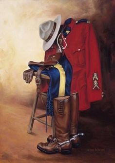mountie By Pat Deputat I Am Canadian, Canadian History, Canada Eh, Toronto Canada, Meanwhile In Canada, Canadian Soldiers, Military Art, Military Uniforms, Lest We Forget