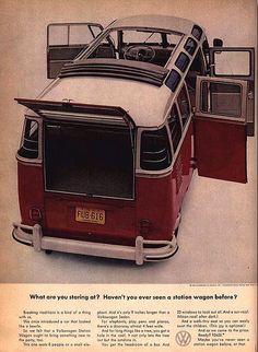 Old VW Bus Advertising