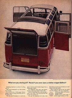 Old VW Bus Advertising