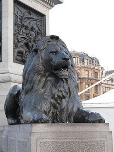 Lion Statue, Trafalgar Square, London | Flickr - Photo Sharing!