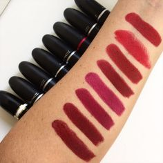Os Vermelhos da MAC! Mac Cosmetics, Make Up, Lipstick, Goals, Beauty, Artist, Blog, Mac Red Lipsticks, Hair