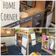 Home corner in my class. Eyfs Classroom, Primary Classroom, Classroom Ideas, Home Corner Ideas Early Years, Early Years Classroom, Role Play Areas, Preschool Centers, Corner House, Classroom Setting