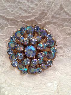 Vintage Three Dimensional Blue Aurora Borealis by TheRainyDayShop