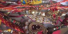 Shops filled with Rakhis herein Mumbai