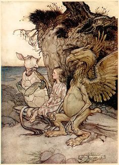 Arthur Rackman- Turn of the century illustrator. He is known for the old printing process that required a black ink line to keep colors from seeping into one another. (compared to the more modern printers characteristic of Dulac.)
