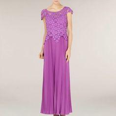 Alexon Violet Lace Maxi Dress- at Debenhams.com