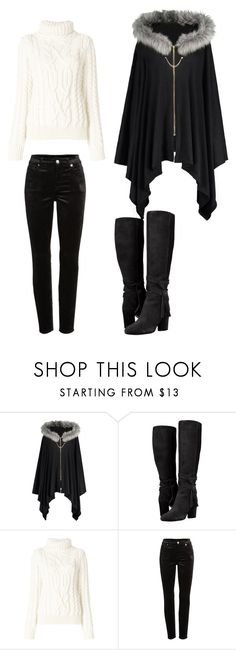 """Untitled #38"" by derpydo on Polyvore featuring Moncler Grenoble and 7 For All Mankind"