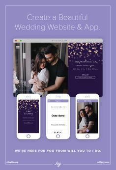 Invite Guests Manage Rsvps Share Your Registries More With Joy The Free Wedding Website And That Does