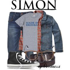 Shdaowhunters | Simon Lewis - annabelle-95 on Polyvore featuring prAna, Scotch & Soda, Hollister Co., Urban Pipeline, Garrett Leight, Converse, men's fashion, menswear, shadowhunters and simonlewis