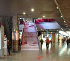 Stair advertising in spaces like malls, airports, subway stations & convention centers can be wrapped with adhesive graphics to form a giant, ad. Convention Centre, Mall, Advertising, Stairs, House, Ideas, Stairway, Home, Staircases