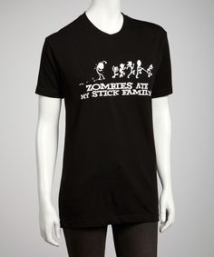 Loving this Black 'Zombies Ate My Stick Family' Tee - Kids & Adult on #zulily! #zulilyfinds