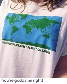 hahayuleHarajuku Vintage Casual Unif the WQeRLDS Greatest Planet on Earth Letter Map Pattern Loose Plus Size Short Sleeve Tshirt - 2019 Short Jeans, Tumblr Fashion, Unif, Visual Kei, Look Cool, Dress To Impress, Graphic Tees, Cool Outfits, T Shirts For Women