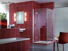http://www.justsoakit.com/wp-content/uploads/2015/01/enchanting-quaryl-baths-design-idea-with-glass-box-shower-corner-beside-blinds-window-along-with-red-tile-wall-decor-as-well-lighting-idea-beside-mirror-wall-mounted-also-red-chair-on-gray-floor-891x669.jpg