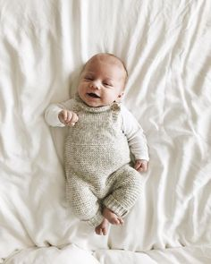 The SWEETEST knit baby jumper!