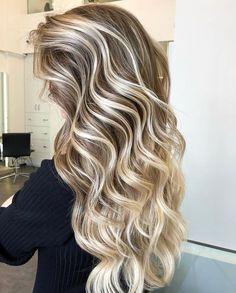 Long blonde hair color balayage hairstyles