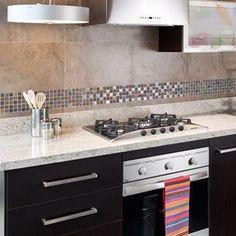 Resultado de imagen para ceramicas para cocina pared #cocinasMexicanas Kitchen Appliances, Stove Top, Home, Deco, House, Kitchen, Cabinet, Kitchen Cabinets