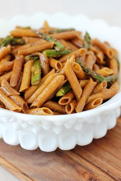 Balsamic-Glazed Penne with Roasted Asparagus Adapted slightly from Food and Wine