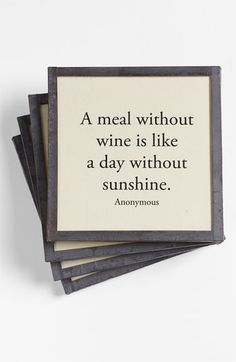 Ben's Garden 'A Meal Without Wine' Coasters (Set of 4) | Nordstrom