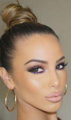 Makeup en morado