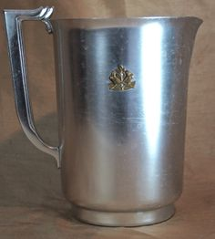 NM Antique Vtg Art Deco Kensington Aluminum Pitcher Silver