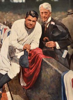 Babe Ruth and Kenesaw Landis by Ron Stark.