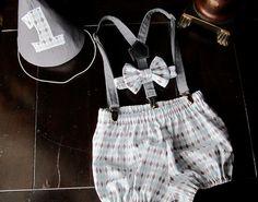 Smash Cake Outfit Birthday Boy Outfit  Bowtie by TwoLCreations