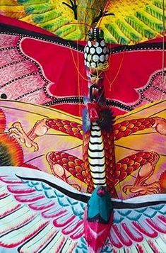 Butterfly Kites from Bali. Go Fly A Kite, Kite Flying, Air Balloon, Balloons, Indonesian Art, Over The Rainbow, Beautiful Butterflies, Rainbow Colors, All The Colors