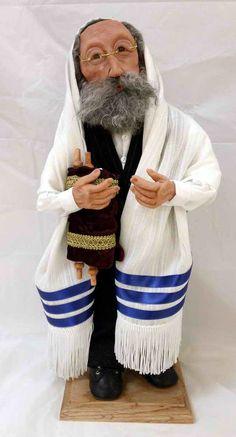 Rabbi With Torah Character Doll