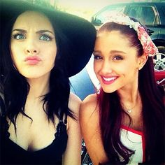 Ariana and Liz. <3 i love their friendship.