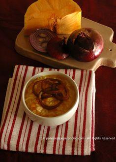 risotto con zucca e cipolle caramellate