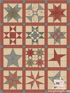 Piece N Quilt: block of the month: Brings you to the page with all of the block of the month tutorials. :)
