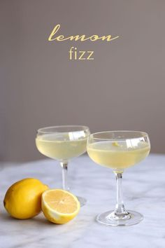 Serve up something elegant at your next formal gathering. These lemon fizz cocktails are sweet, sour, and oh-so-pretty for a summer shower. Vodka, lemon juice, and a splash of champagne is all you'll need to create this refreshing cocktail!