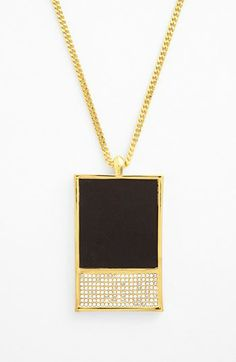 Vince Camuto 'Tour of Duty' Leahter Pendant Necklace